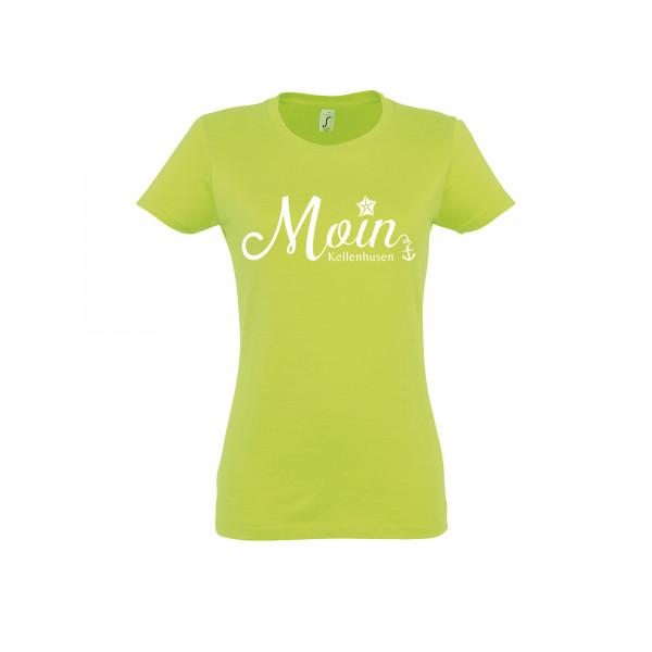 "T-Shirt ""Moin Kellenhusen"" - apfelgrün"