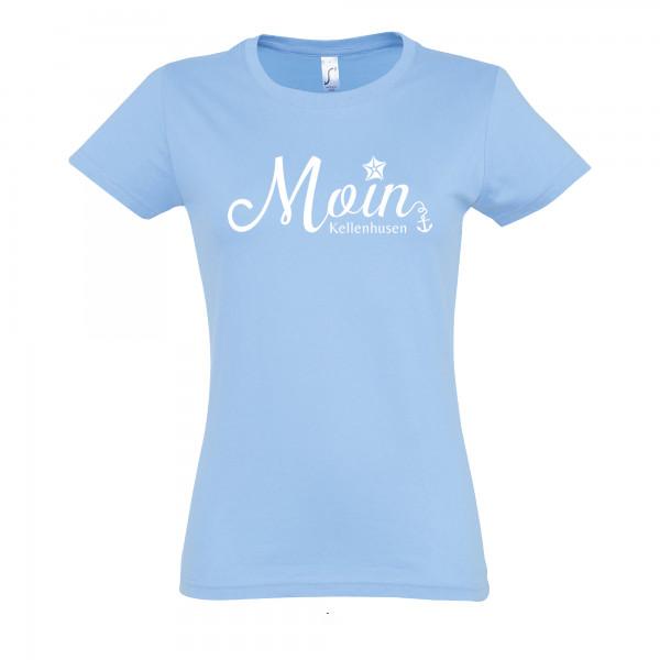 "T-Shirt ""Moin Kellenhusen"" - hellblau"