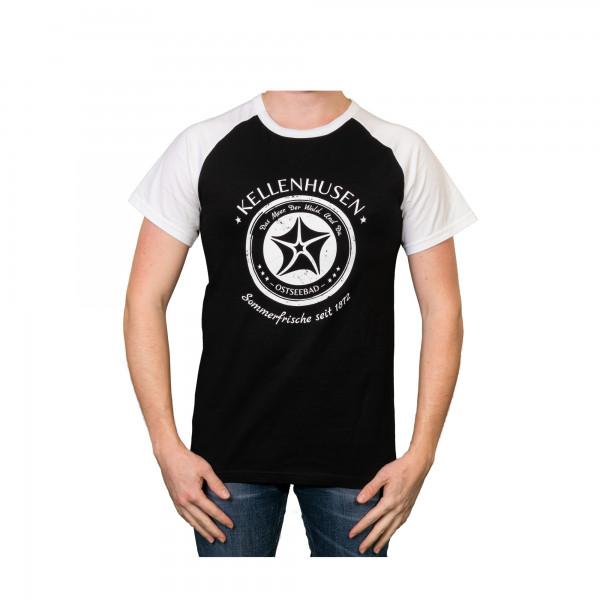 "T-Shirt ""Stempel""- schwarz/weiß"