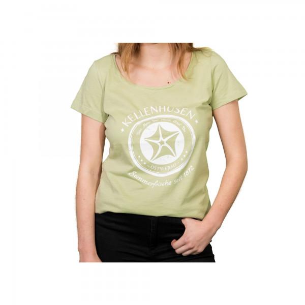 """T-Shirt Oversized """"Stempel"""" - hellgrün"""